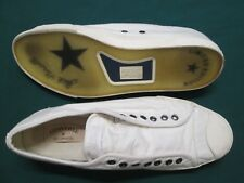 CONVERSE by John Varvatos Jack Purcell LOW PROFILE Ivory Slip-On Trainers Size12