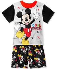 NEW BOYS INFANT TODDLER KIDS MICKEY MOUSE DISNEY PAJAMAS PJS 2 PC SET 3T 4T 12M