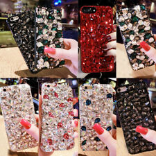 Bling Rhinestone Diamond Shockproof Back Case Crystal Cover for iPhone Samsung