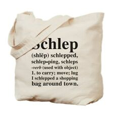 CafePress - Webster's Schlep Tote - Natural Canvas Tote Bag, Cloth Shopping Bag