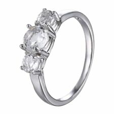 Women Fashion White Gold Plated Cubic Zirconia CZ Crystal Ring Wedding Jewelry