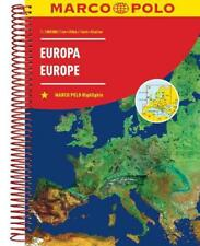 Europe Marco Polo Road Atlas by Marco Polo Paperback Book Free Shipping!