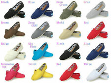 Women Classics TOM Loafers Canvas Slip-On Flats shoes Lazy shoes size 6-10