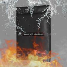 Fire Water Resistant Document File Money Safe Bag Storage Fireproof Protection