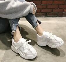 Chic Womens High Top Hidden Heels Athletic Lace Up Leisure Trainers Sport Shoes