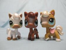 Littlest Pet Shop Lot of 3 RACEABOUT RANCH PONY HORSE #337 338...