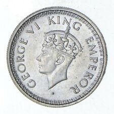 Roughly Size of Dime - 1945 India 1/4 Rupee - World Silver Coin *026