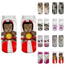 Unisex Funny 3D Fashion Cat Printed Casual Socks Cute Low Cut Ankle Socks