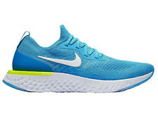 Mens Nike Epic React Flyknit Running Shoes Trainers Blue Glow/White/Blue Volt