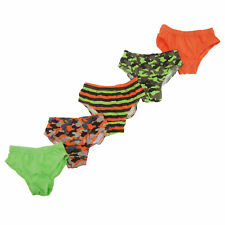 Childrens Boys Camouflage Patterned Underwear Briefs (Pack Of 5) (KU186)