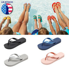 WOMENS LADIES SUMMER BEACH FLIP FLOPS THONG TOE POST FLAT SANDALS SHOES US SIZE
