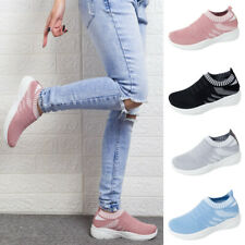 Womens Sneakers Trainers Mesh Breathable Sport Gym Running Flat Pumps Shoes Size