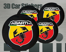 Wheel stickers Abarth Center Cap Logo Badge Wheel Trims Rims Decal 3d Hub Caps
