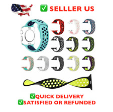 38/42mm Silicone Bracelet Band Strap For Apple Watch iWatch Sports Series 3 4 2