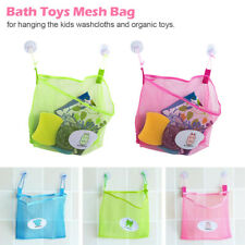 Baby Shower Bath Toys Mesh Bag Kids Toys Storage Mesh with Strong Suction Cup