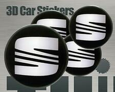 Wheel stickers SEat Center Cap Logo Badge Wheel Trims Rims Decal 3d Hub Caps