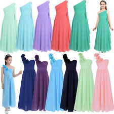 Flower Girls Dress Princess Pageant Party Wedding Bridesmaid Communion Maxi Gown