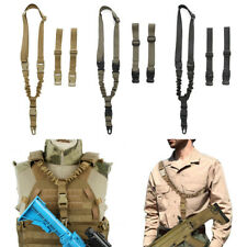 Quick Release Tactical 1 One Single Point Bungee Rifle Gun Sling Strap For Vest