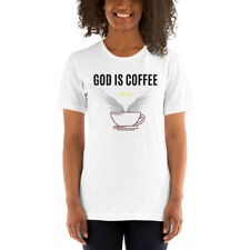 'God Is Coffee' White/Green Short-Sleeve Unisex T-Shirt for caffeine disciples