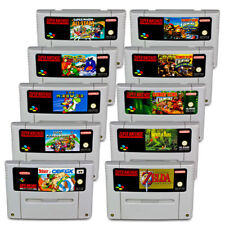 Snes Game Mario World Mario Kart Zelda Donkey Kong 1 2 3 Secret of Mana Asterix