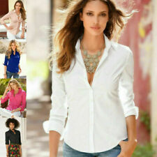 Spring Summer Women Long Sleeve V Neck Chiffon T-Shirt Casual Blouse Loose Top