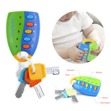 Cartoon Baby Kids Musical Smart Remote Car Key Toy Car Voices Education Toys Box