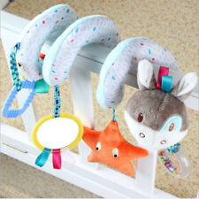 Baby Animals Spiral Rattle Infant Kids Bed Stroller Crib Plush Doll Bell Toys