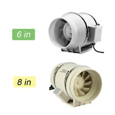 """4""""/6""""/8"""" 110V Inline Duct Booste Blower Fan Exhaust Air Ducting Cooling Vent"""