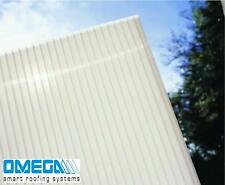 16mm Opal Polycarbonate Roofing Sheets | Glazing Panels- Various Sizes, TAPED