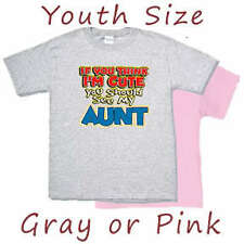 Kids / Youth Size shirt * Cute Aunt Funny Auntie tshirt