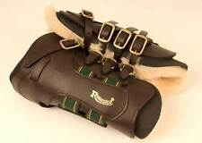 Rhinegold leather / sheepskin tendon boots protection support   all sizes