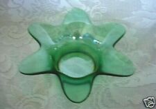 Collectible Teal / Green Blown Glass Star Shaped Votive / Tealight