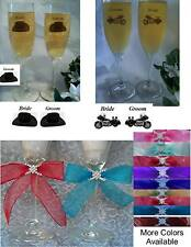 Wedding Toasting Flute Glasses Western / Motorcycle