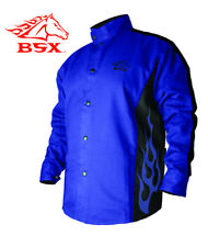 Stryker™ FR Blue & Black Flames Welding Jacket
