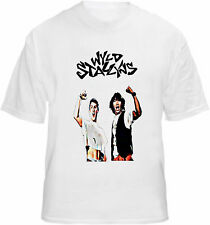 Bill & Ted T-shirt Wyld Stallyns Movie Film Poster Type