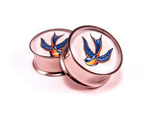 Pair of Swallows Plugs gauges Choose Size new