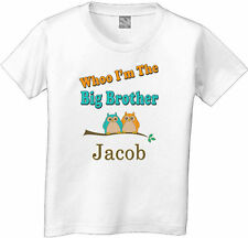 GUESS WHOOO OWL I'M BIG BROTHER T-SHIRT WITH NAME