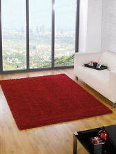 Quality Plain Shaggy Red Burgundy Rug in 4 Different Sizes Large Small Carpet