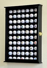 70 Golf Ball Designer Cabinet Display Case Wall Rack UV