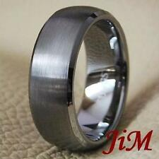 Tungsten Carbide Wedding Band Mens Ring Dome Size 6-15
