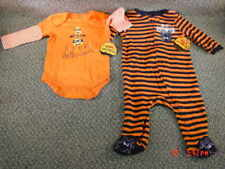 2 NWT Infant Halloween Themed Sleeper Playsuit Girl Boy
