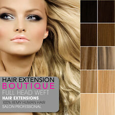 Lush Hair Extensions DIY WEFT Remy Human Hair Extensions Full Head