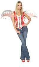 Angel Corset w/Wings Sexy Bodice Adult Costume 2 COLORS