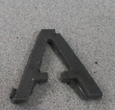 "Raw Metal Art Letters: ""A"" : Approximately - 4x4 or 2x2"