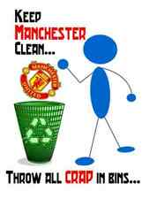 Keep Manchester Clean United in Bin - Image on T-Shirt