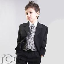 PAGEBOY OUTFITS FOR WEDDING SILVER SUIT AGE 3M - 14YRS