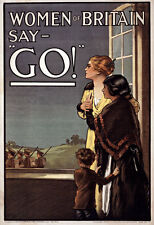 W91 Vintage WWI Women Of Britan Say Go British Army War Poster WW1 A1 A2 A3
