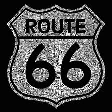 Women's V-neck shirt Cities along The Legendary Route 66