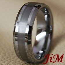 Tungsten Carbide Wedding Band Mens Ring Titanuim Color Bridal Jewelry Size 6-15