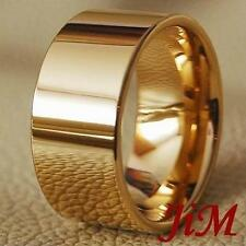 Men's Tungsten Ring Top 14K Gold Wedding Band Pipe Cut Bridal Jewelry Size 6-15